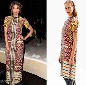 H&M Studio silk patterned dress size 4